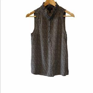 NWOT J CREW 100% Silk High Collar Sleeveless Top 4